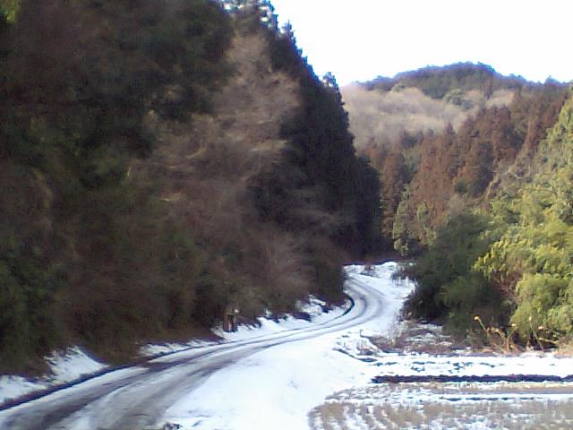 残雪多し、裏筑波