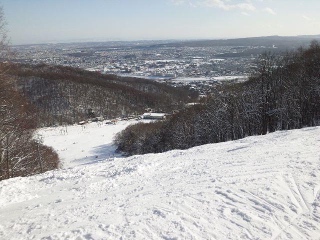好天の藻岩山スキー場